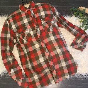 {Quicksilver} Men's Super Soft Plaid Shirt Size M